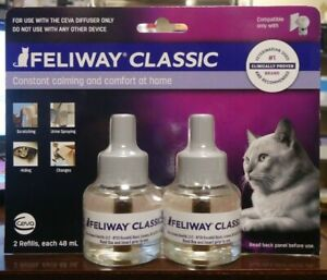 NEW!! Feliway CLASSIC Refill 2PK 96 ml (3037)