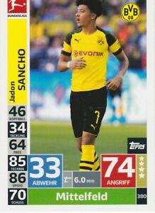 Match Attax Action 2018/ 2019 Sancho # 380 Borussia Dortmund