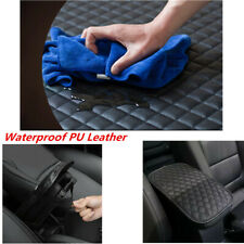 Waterproof PU Leather Center Console Armrest Box Protector Pad Fit Car SUV Truck