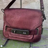 Coach Swagger Pebble Leather Cherry Cross Body Small Shoulder Bag