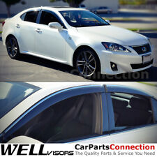 WellVisors Window Visors 06-13 For Lexus IS250 IS350 ISF Side Deflectors