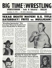RARE WRESTLING PROGRAM  DALLAS  TEXAS   SEPTEMBER  17,  1974     -  6/4
