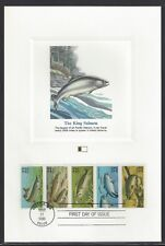 #'s 2209a, (2205-2209),  FISH Booklet, 1986,  Fleetwood First Day Proofcard