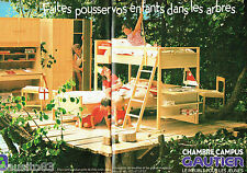 PUBLICITE ADVERTISING 016  1985  GAUTHIER  meubles chambre enfants CAMPUS (2p)