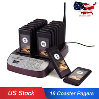 TIVDIO Wireless Restaurant Guest Calling Paging Queuing System+16*Coaster Pagers