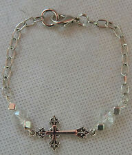 5b9969cd925 Cross Bracelet Jewelry Handmade NEW Accessories Fashion Beaded Silver Women  Link
