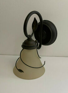 Candle Impressions Battery Operated Decorative Metal and Glass Porch Light