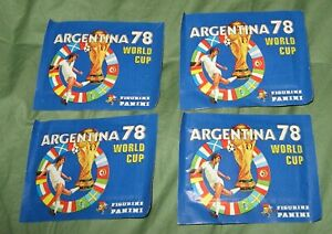 Lot of Four Packs Argentina 78 World Cup Figurine Panini UN-Opened