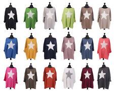 New Italian Ladies Lagenlook Star Print Top Dress Plus Size 14-28