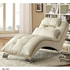 Living Room Chaise Lounge Home Furniture Indoor Contemporary Style White New