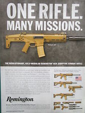 4/2010 PUB REMINGTON ADAPTIVE COMBAT RIFLE ACR SOLDIER US ARMY ORIGINAL AD
