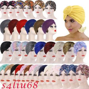India Women Turban Hijab Hat Headscarf Wrap Hair Loss Chemo Cap Cancer Beanie