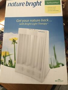 NatureBright SunTouch Plus Light and Ion Therapy Lamp - White Used