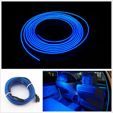 3meters Blue EL Cold Light Car Cigarette Lighter Strip Neon Lamp Interior