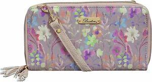 Buxton Floral Organizer Wallet One Size Grey multi
