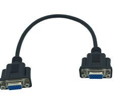 30cm SVGA VGA HDTV 15Pin Monitor Female to VGA Female Panel Mount Faceplate Stub