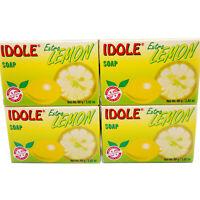 4 Pack Idole Extra Lemon Soap Skin Face Cleanser Jabon de Limon Piel Cara Cuerpo