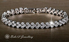 Simulated Diamond/Wedding/Bridal Bracelet/White Gold/RGB018