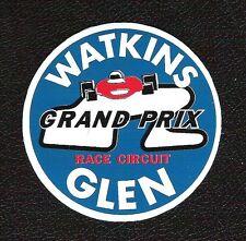 Watkins Glen Grand Prix Race Circuit Sticker, Vintage Sports Car Racing Decal