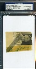 Snuffy Stirnweiss Psa/dna Signed 3x5 Cut Autograph Authentic