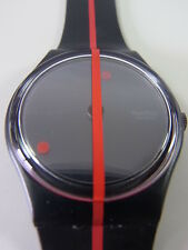 GZ119 New Swatch - 1991 360º Rosso Sur Blackout F.Varini Swiss Made Authentic