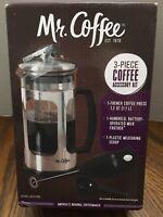 Mr. Coffee 1.2 Quart Coffee Press BVMC-AC4-RB 3 Piece Accessory Kit NEW in Box