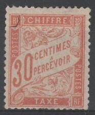 "FRANCE STAMP TIMBRE TAXE 34 "" 30c ROUGE-ORANGE "" NEUF (x) TB RARE A VOIR   M862"