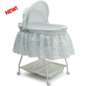 Baby Bassinet W/ Storage Infant Nursery Crib Basket Sleeper Bed Cradle White NEW