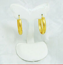 18K 22K 24K Thai Baht Yellow Gold Plated Earrings Hoop Jewelry Women