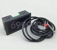 DC 12-24V Digital LED Industrial Meter Thermometer NTC Temperature Sensor Probe