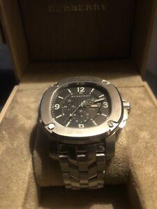Custom BBY1100 Swiss Made 47mm Burberry Britain Chronograph Watch