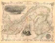 'EAST CANADA & NEW BRUNSWICK'. Quebec. Québec city view. TALLIS/RAPKIN 1849 map
