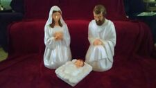 """NEW 3 Piece 28"""" Pearl Nativity Set (Face, Hair Hands Painted) Lighted Blow Mold"""
