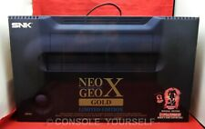 NEO GEO X GOLD LIMITED EDITION CONSOLE - OPENED NEVER USED - SNK - BLAZE - UK