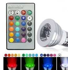 E27 Lamp Bar Party Disco Rotating Color Light Bulb 3W LED Crystal Stage RGB