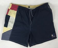 Vintage Nautica Swim Trunks Shorts Bathing Suit Colorblock Drawstring Large