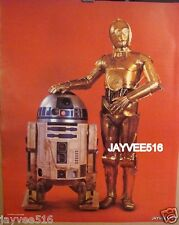 STAR WARS - EMPIRE STRIKES BACK ORIGINAL CRISCO OIL POSTER ROBOTS STILL PHOTO SF