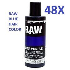 DISCOUNT, 48 Raw Blue Demi-Permanent Long Lasting Temporary Hair Dye 4oz