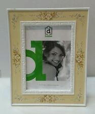 White french floral photo picture frame 5x7