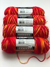 NEW Red Heart Super Saver 4Pcs Sunshine Print Yarn 0798 4 Medium Worsted Acrylic