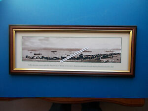 ROYAL NAVY H.M.S. RENOWN, SYDNEY HEADS JUNE 16TH 1920 PHOTOGRAPHIC PRINT FRAMED