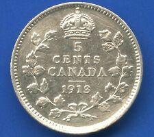 1913 Canada 5 Cent Silver Coin (1.17 Grams .925 Silver)