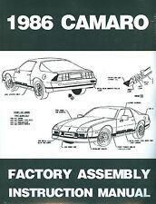 1986 CAMARO FACTORY ASSEMBLY MANUAL