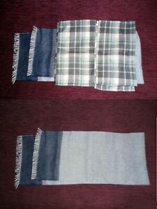 Mens Ladies Unisex 3 tartan checked scarfs