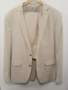 Conner Mens Summer Linen Suit Camel Slim Sz 40