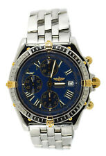Breitling Chronomat Crosswind Blue Dial Two Tone Stainless Steel Watch B13355