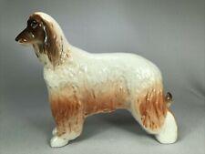 Vintage Lomonosov Made In Russia Porcelain Figurine Of An Afghan Hound Dog