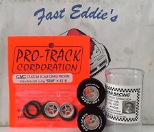 Silver Set of  True Drag Star Tires By Pro Track 1 3/16 x.500