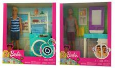 Mattel Barbie Ken Rasier-Set FYK53 FYK52 Waschmaschine Puppe Zubehör (Auswahl)
