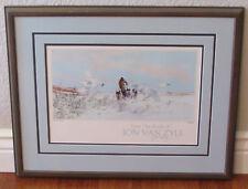 Vtg Jon Van Zyle Signed From The Brush Surprise 1983 Iditarod Race Alaskan Dogs